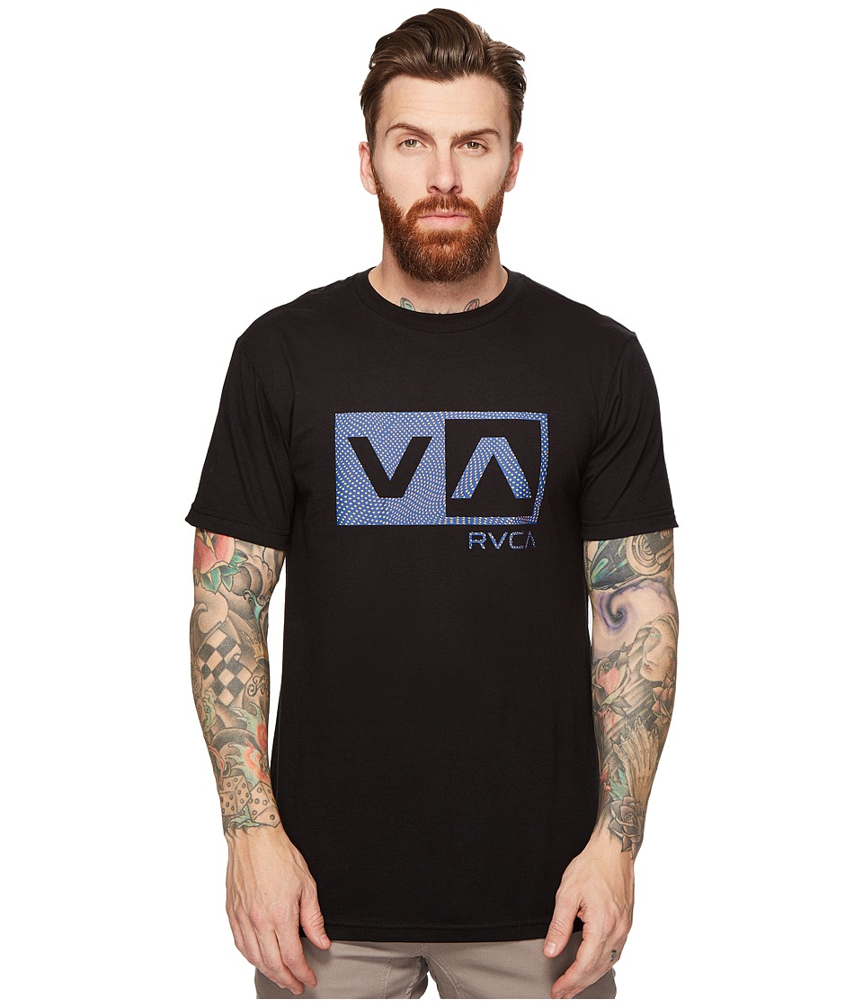 RVCA - Warped Dotty Tee (Black) Men's T Shirt