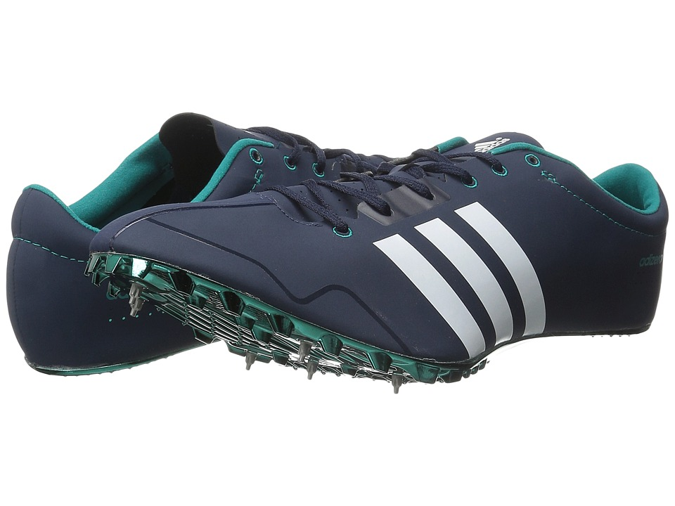 adidas - Adizero Prime SP (Collegiate Navy/White/Equipment Green) Athletic Shoes