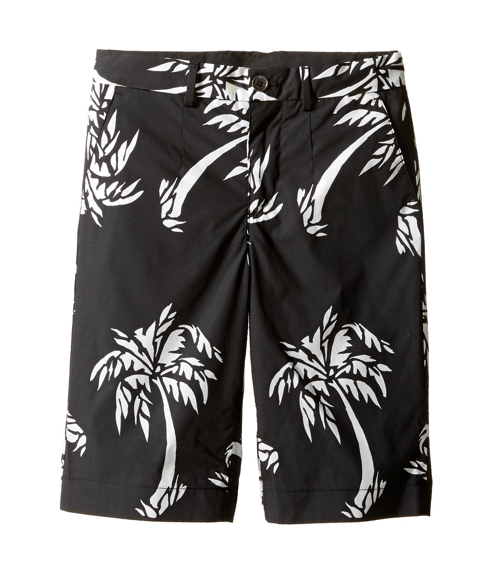 Dolce & Gabbana Kids - Palm Leaf Bermuda (Toddler/Little Kids) (Black Print) Boy's Shorts