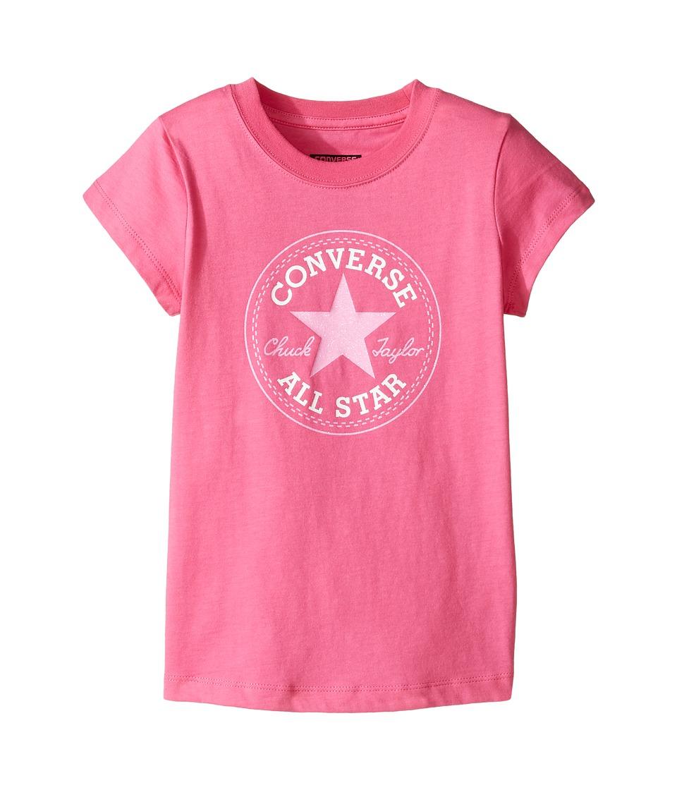 Converse Kids - Short Sleeve All Star Tee (Toddler/Little Kids) (Mod Pink) Girl's T Shirt