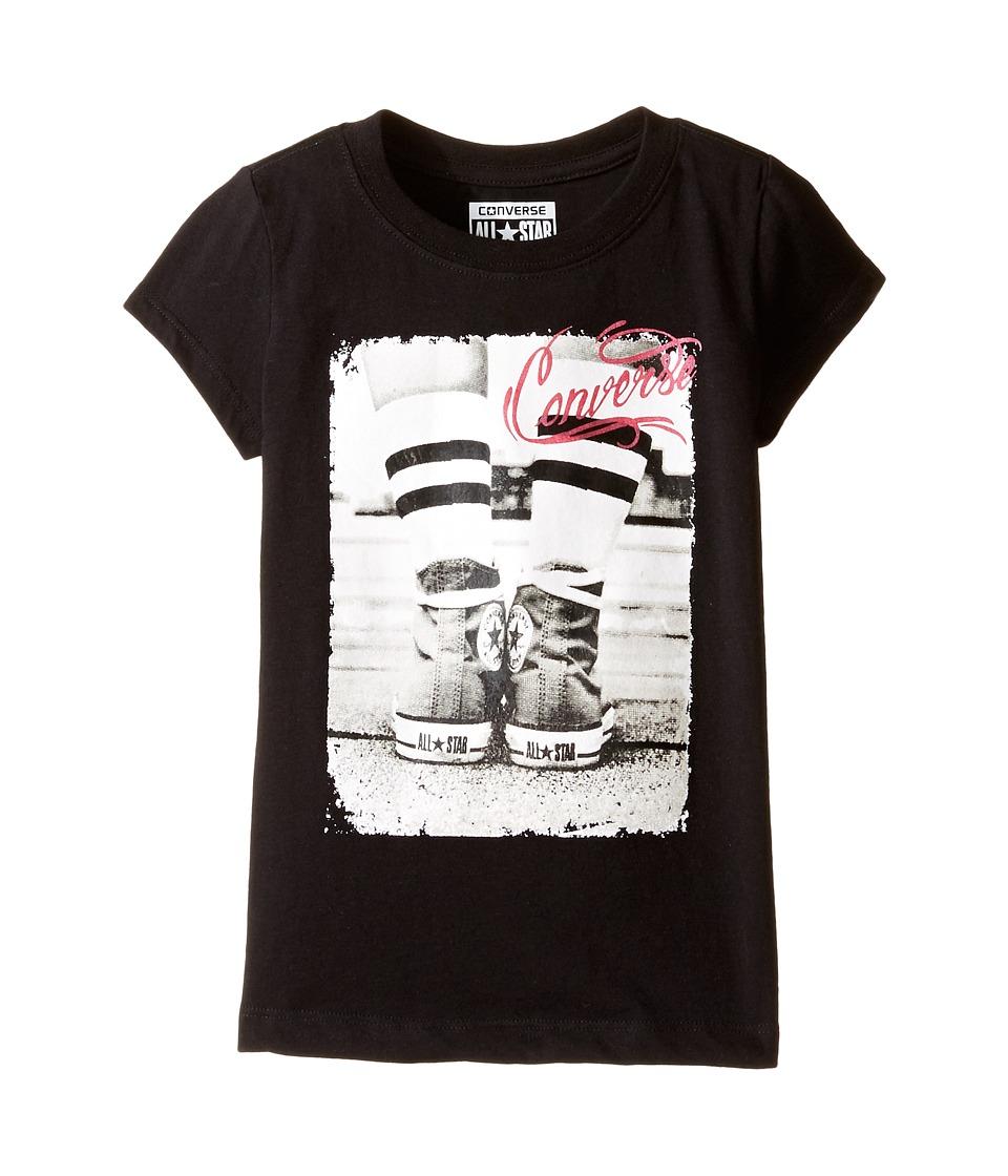 Converse Kids - Short Sleeve Tee (Little Kids) (Black) Girl's T Shirt