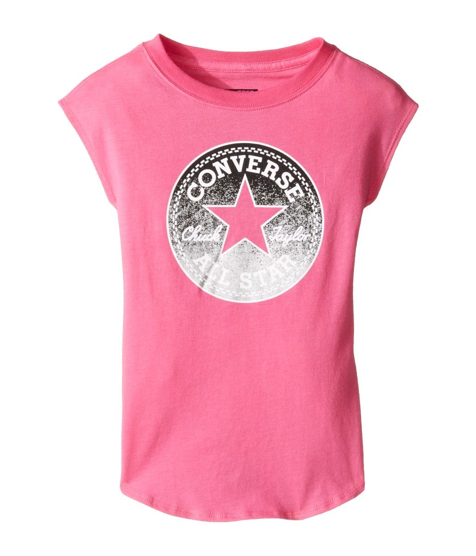 Converse Kids - Dropped Shoulder Tee (Toddler/Little Kids) (Mod Pink) Girl's T Shirt