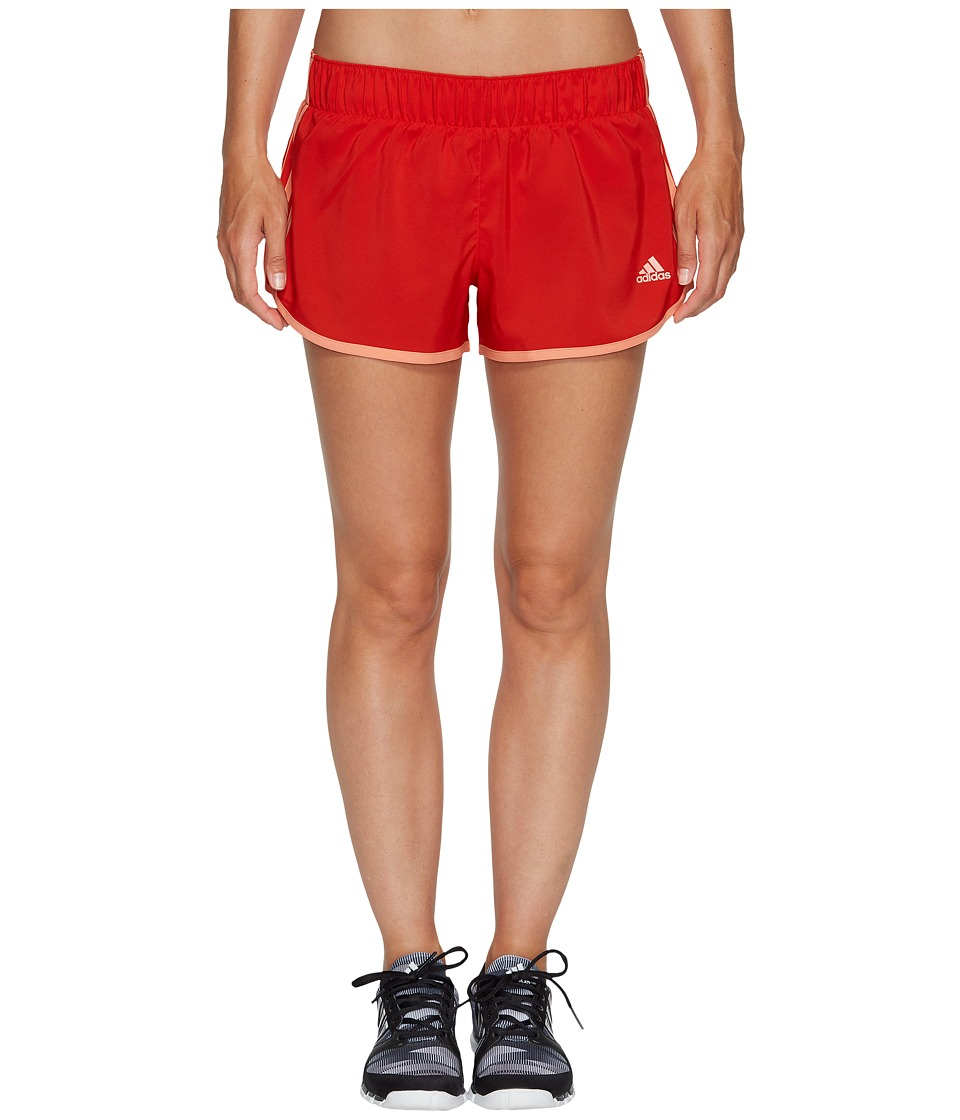 adidas - M10 Woven Shorts (Core Red S17/Sun Glow S16) Women's Shorts