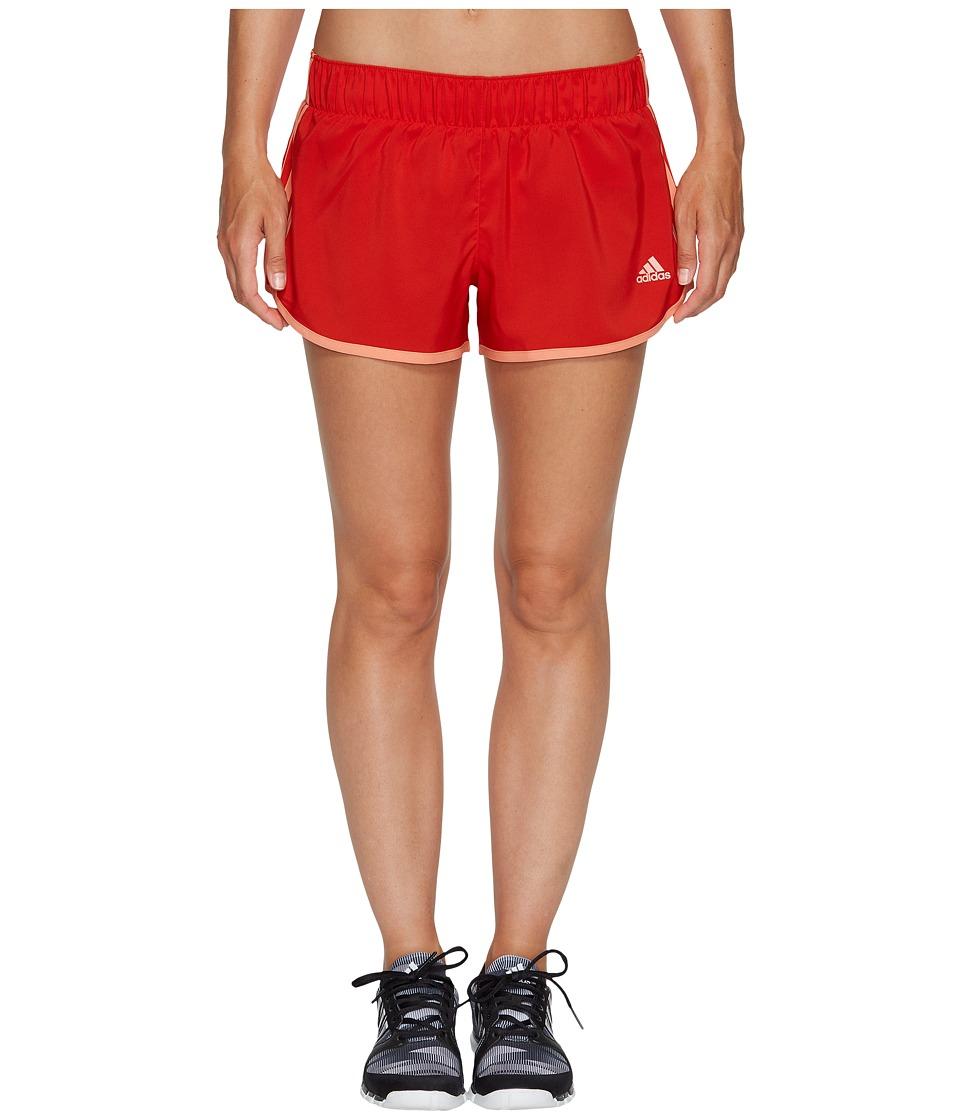 adidas - M10 Woven Shorts (Core Red S17/Sun Glow S16) Women's Shorts