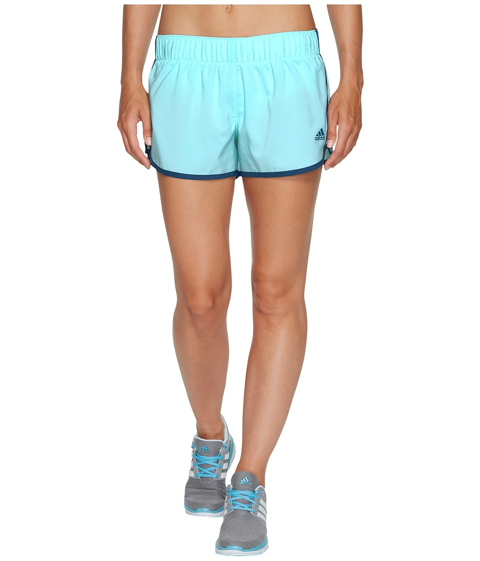 adidas - M10 Woven Shorts (Energy Aqua F17/Petrol Night F17) Women's Shorts
