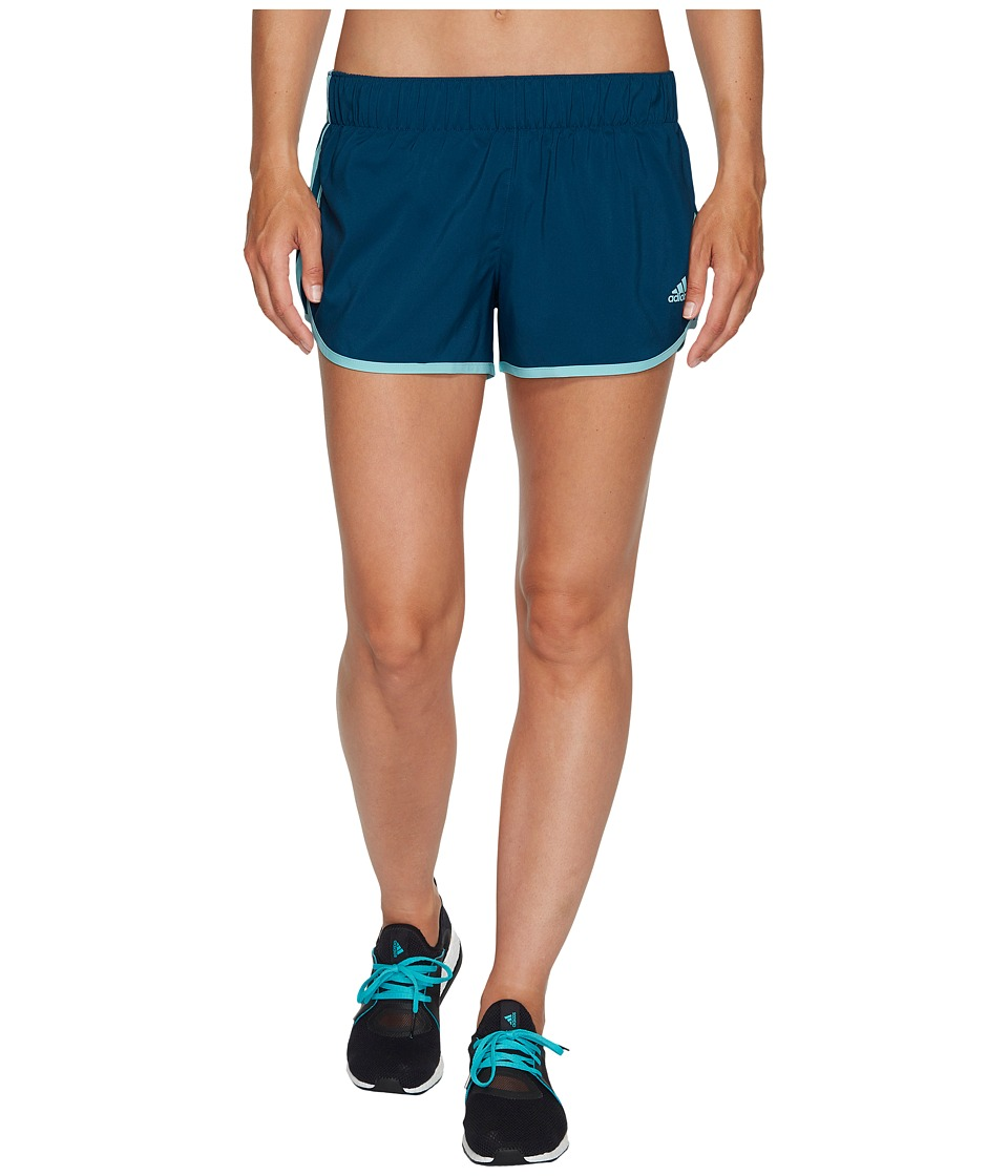 adidas - M10 Woven Shorts (Petrol Night F17/Energy Aqua F17) Women's Shorts