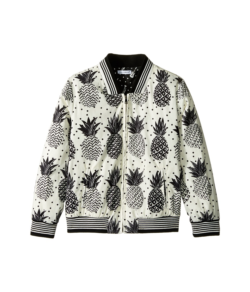 Dolce & Gabbana Kids - Pineapple Jacket (Toddler/Little Kids) (White Print) Boy's Coat