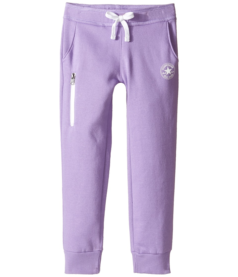 Converse Kids - Core Jogger (Toddler/Little Kids) (Frozen Lilac) Girl's Casual Pants