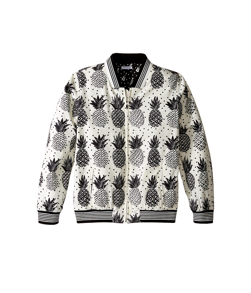 Dolce & Gabbana Kids - Pineapple Jacket (Big Kids) (White Print) Boy's Coat