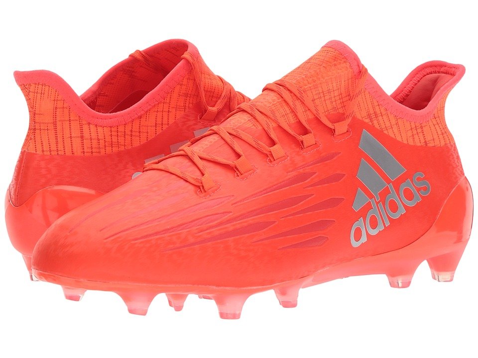 adidas - X 16.1 Firm Ground (Solar Red/Silver Metallic/Hi-Res Red) Men's Shoes