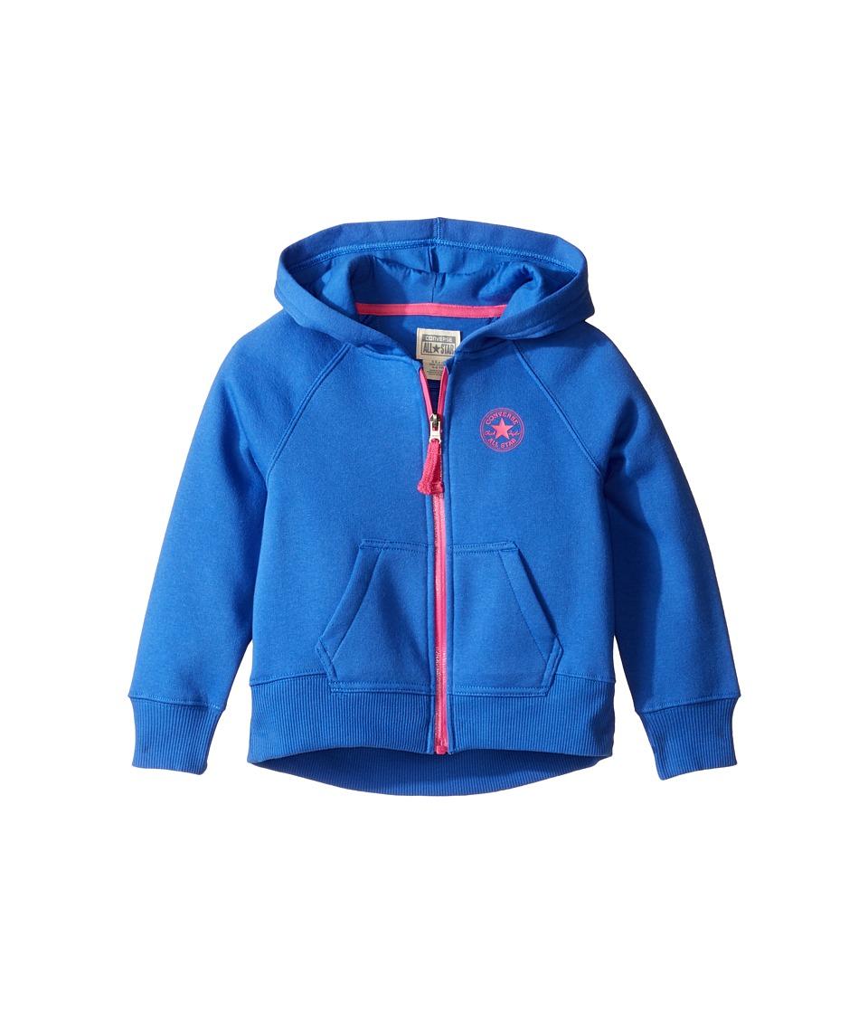 Converse Kids - Core Hoodie (Toddler/Little Kids) (Oxygen Blue) Girl's Sweatshirt