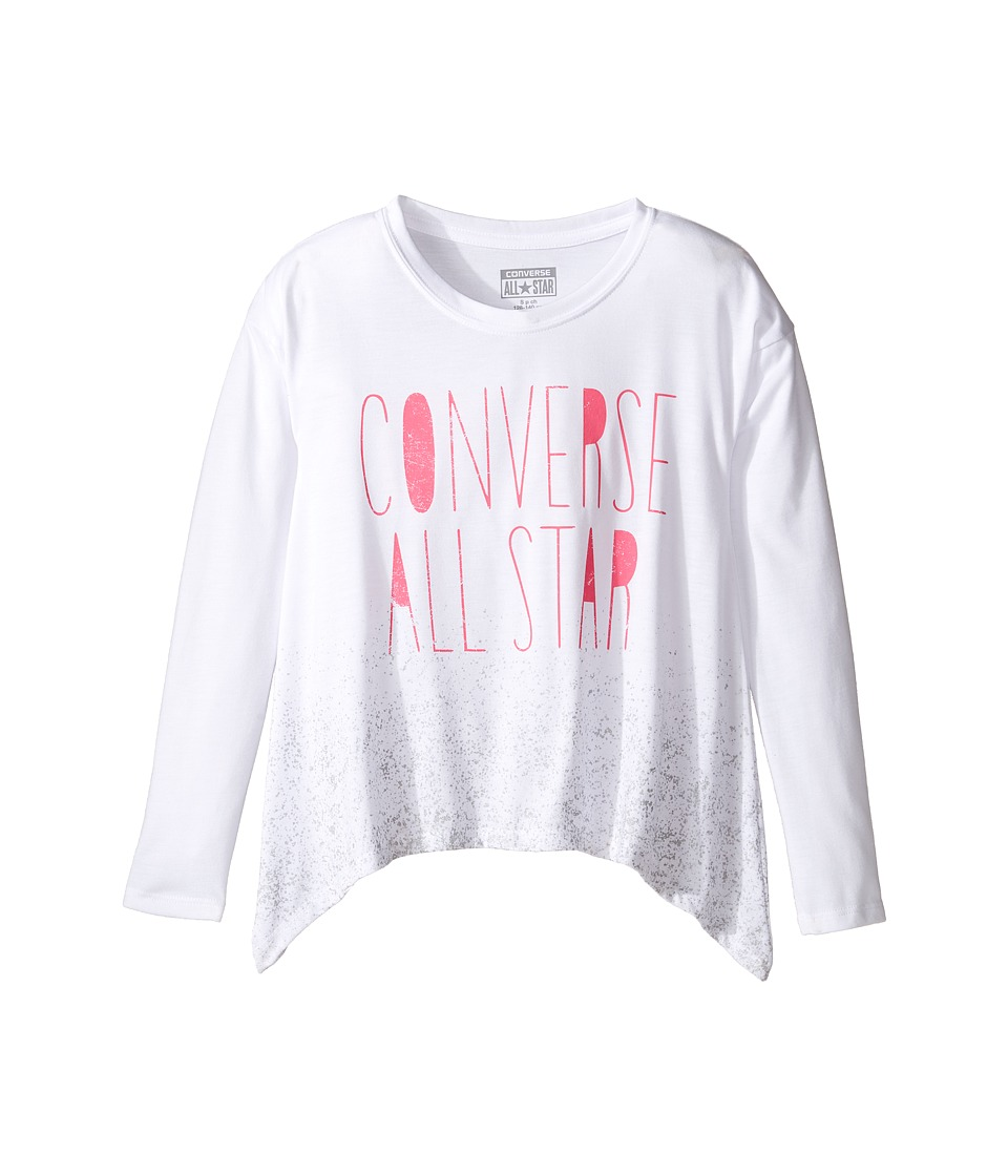 Converse Kids - Boxy Shark Bite Top (Big Kids) (White) Girl's Clothing