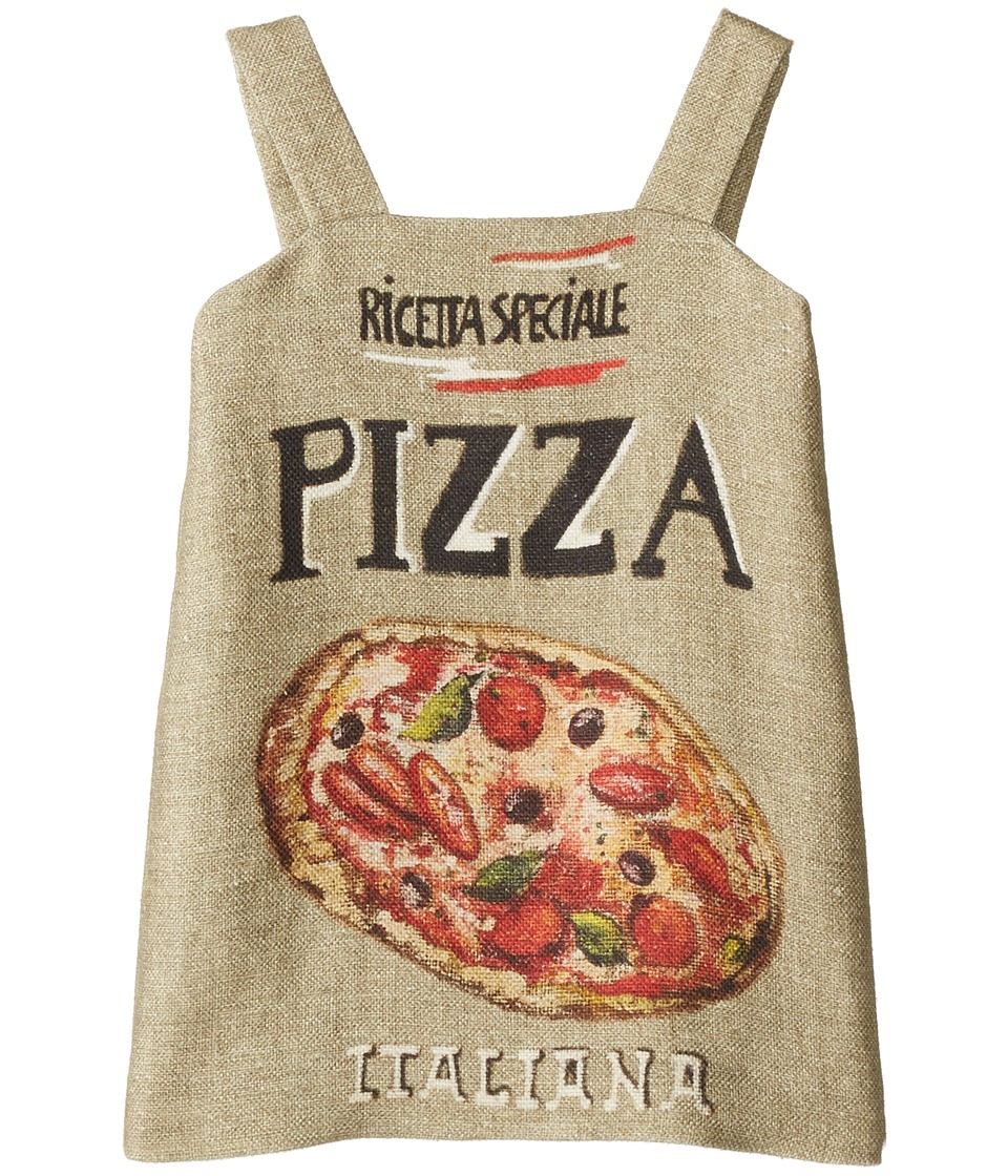 Dolce & Gabbana Kids - Pizza Stuoia Dress (Toddler/Little Kids) (Pizza Print) Girl's Dress