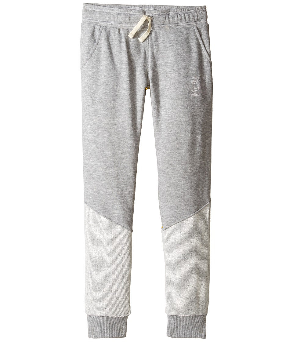 Converse Kids - Foil French Terry Jogger (Big Kids) (Vintage Grey Heather) Girl's Casual Pants