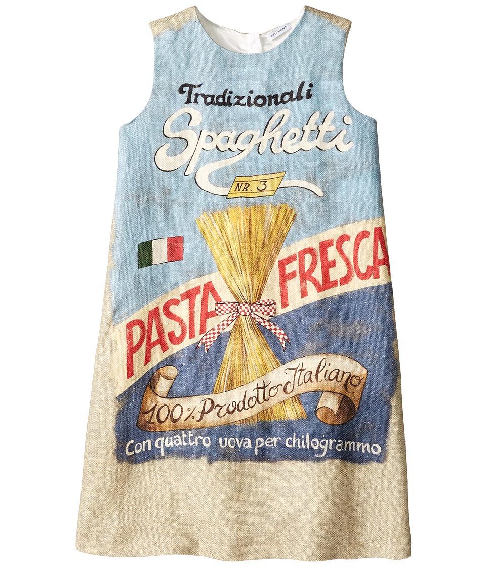 Dolce & Gabbana Kids - Pasta Stuoia Dress (Big Kids) (Beige Print) Girl's Dress