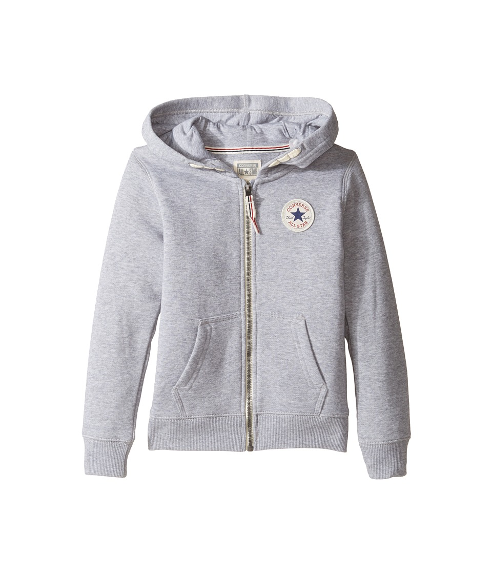 Converse Kids - Core Zip Hoodie (Toddler/Little Kids) (Vintage Grey Heather) Boy's Sweatshirt