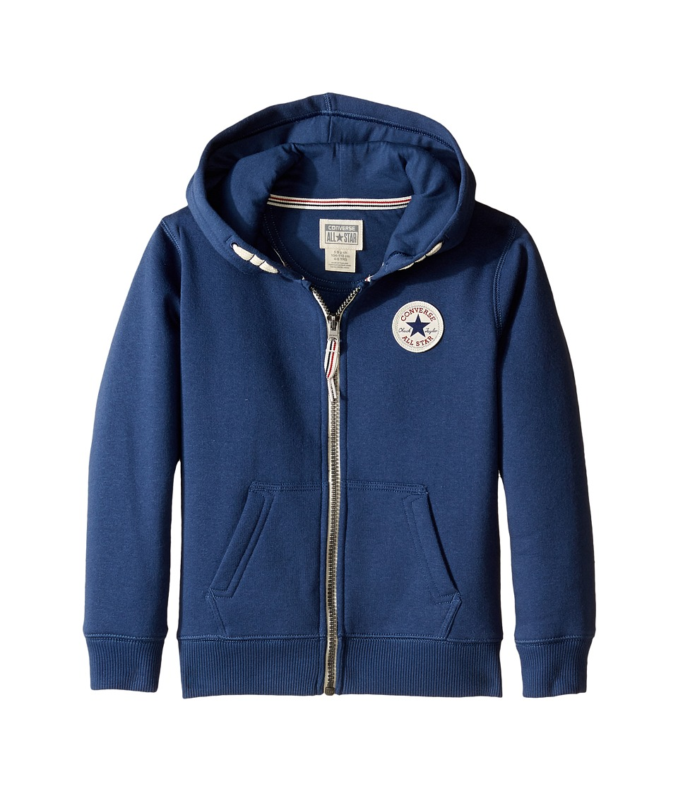 Converse Kids - Core Zip Hoodie (Toddler/Little Kids) (Navy) Boy's Sweatshirt