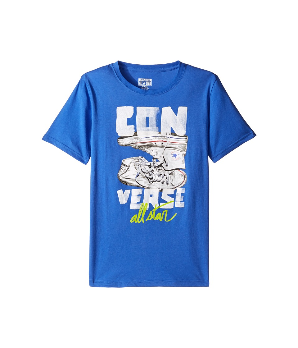 Converse Kids - Stack Chucks Tee (Big Kids) (Oxygen Blue) Boy's T Shirt