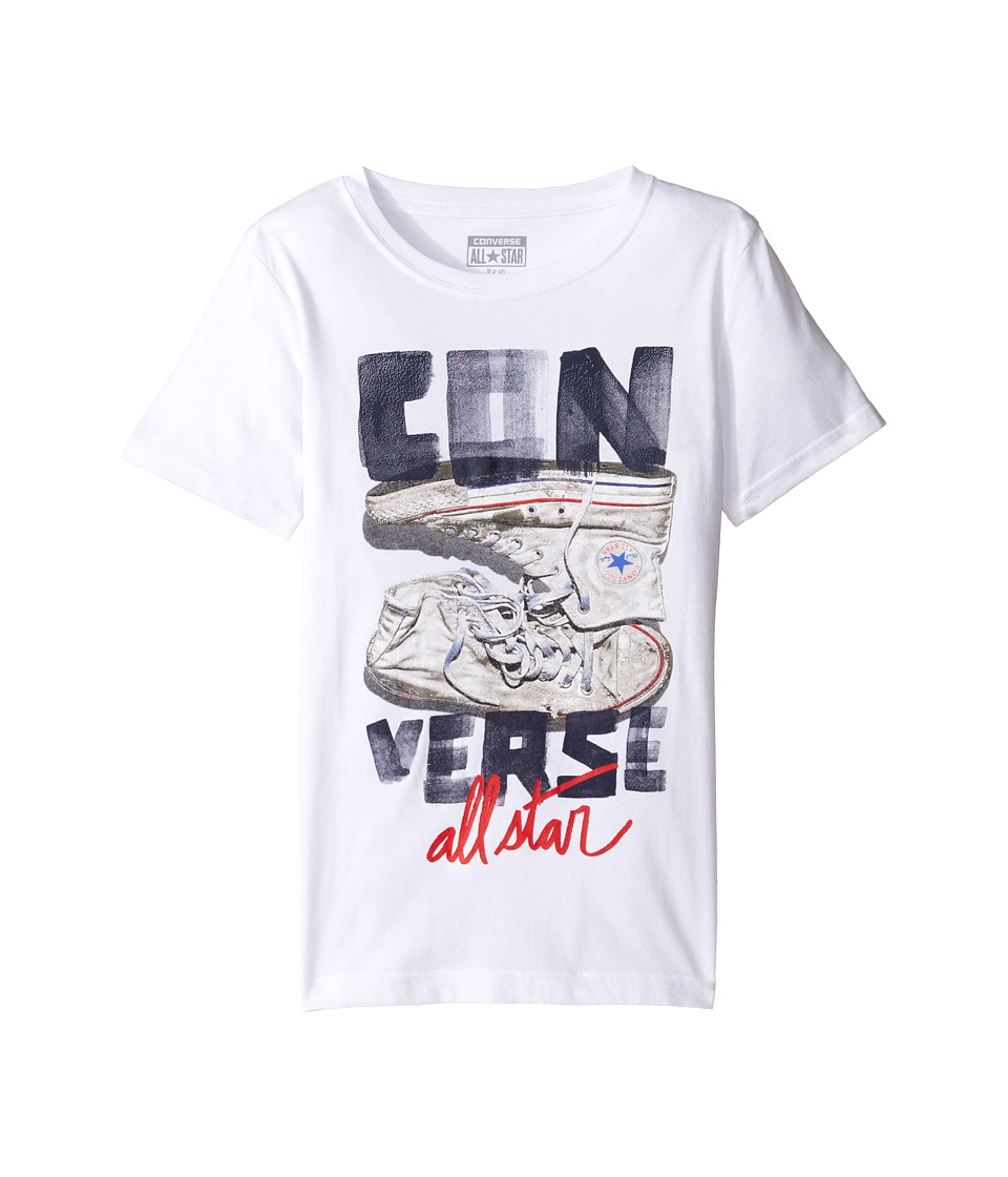 Converse Kids - Stack Chucks Tee (Big Kids) (White) Boy's T Shirt