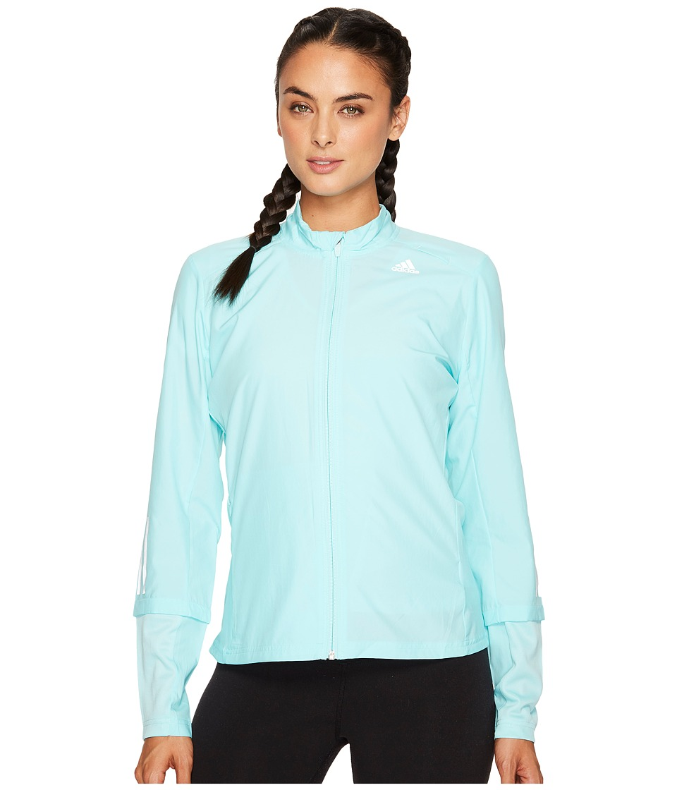 adidas - Response Wind Jacket (Energy Aqua F17) Women's Coat