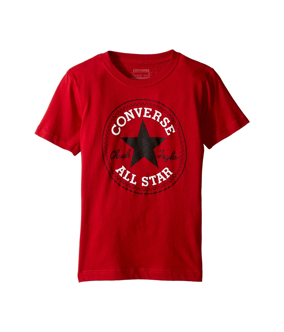 Converse Kids - Snow Yarn Chuck Patch Tee (Big Kids) (Gym Red) Boy's T Shirt