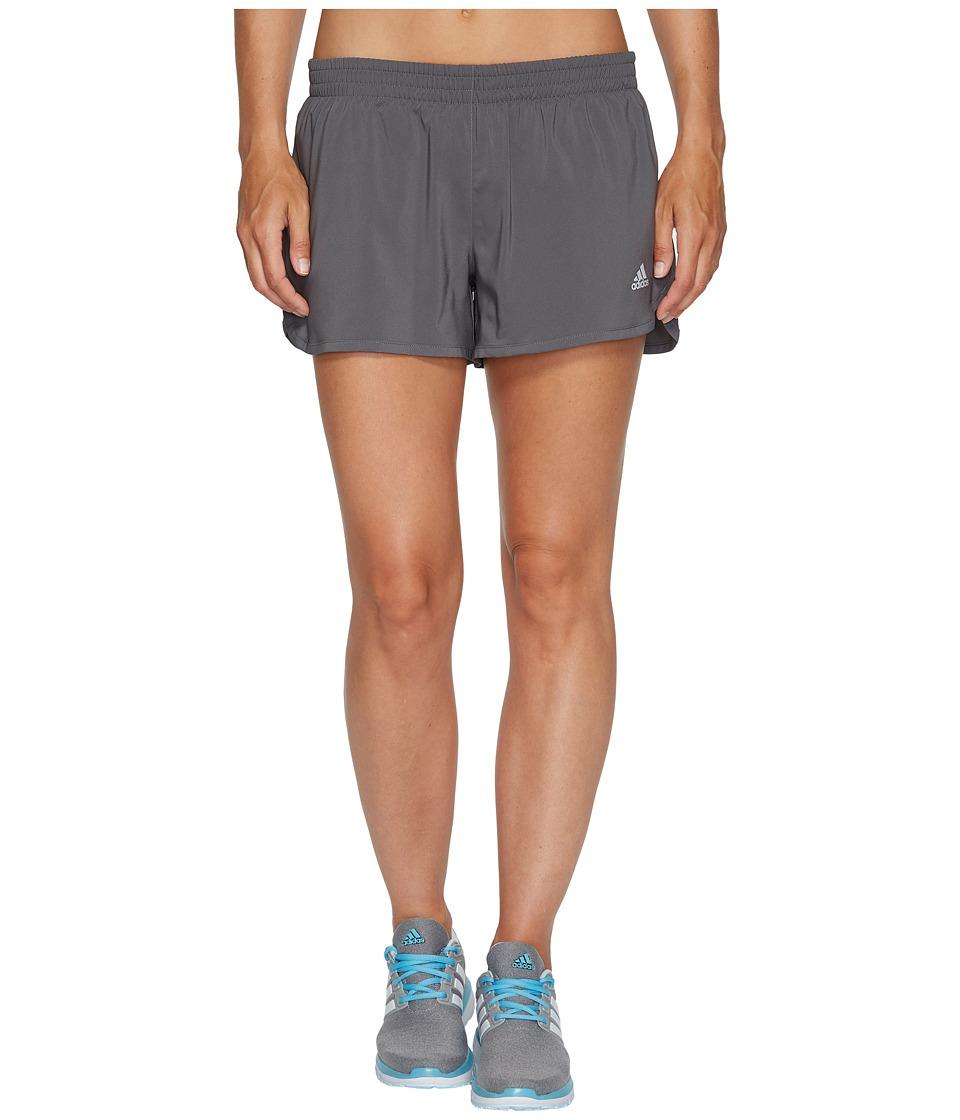 adidas - Run Shorts (Grey Five) Women's Shorts