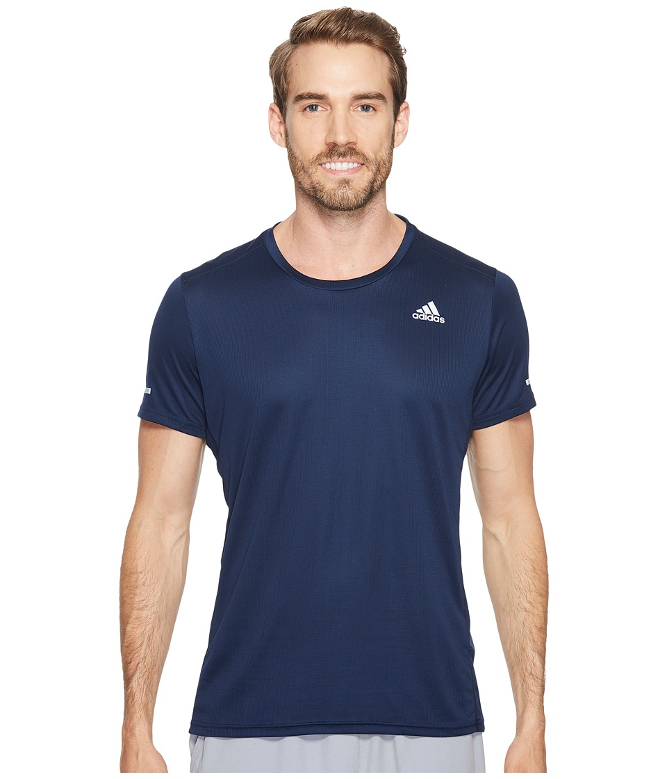 adidas - Run Tee (Collegiate Navy) Men's Workout