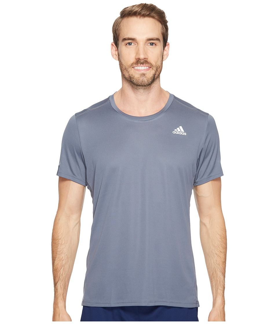adidas - Run Tee (Onix) Men's Workout
