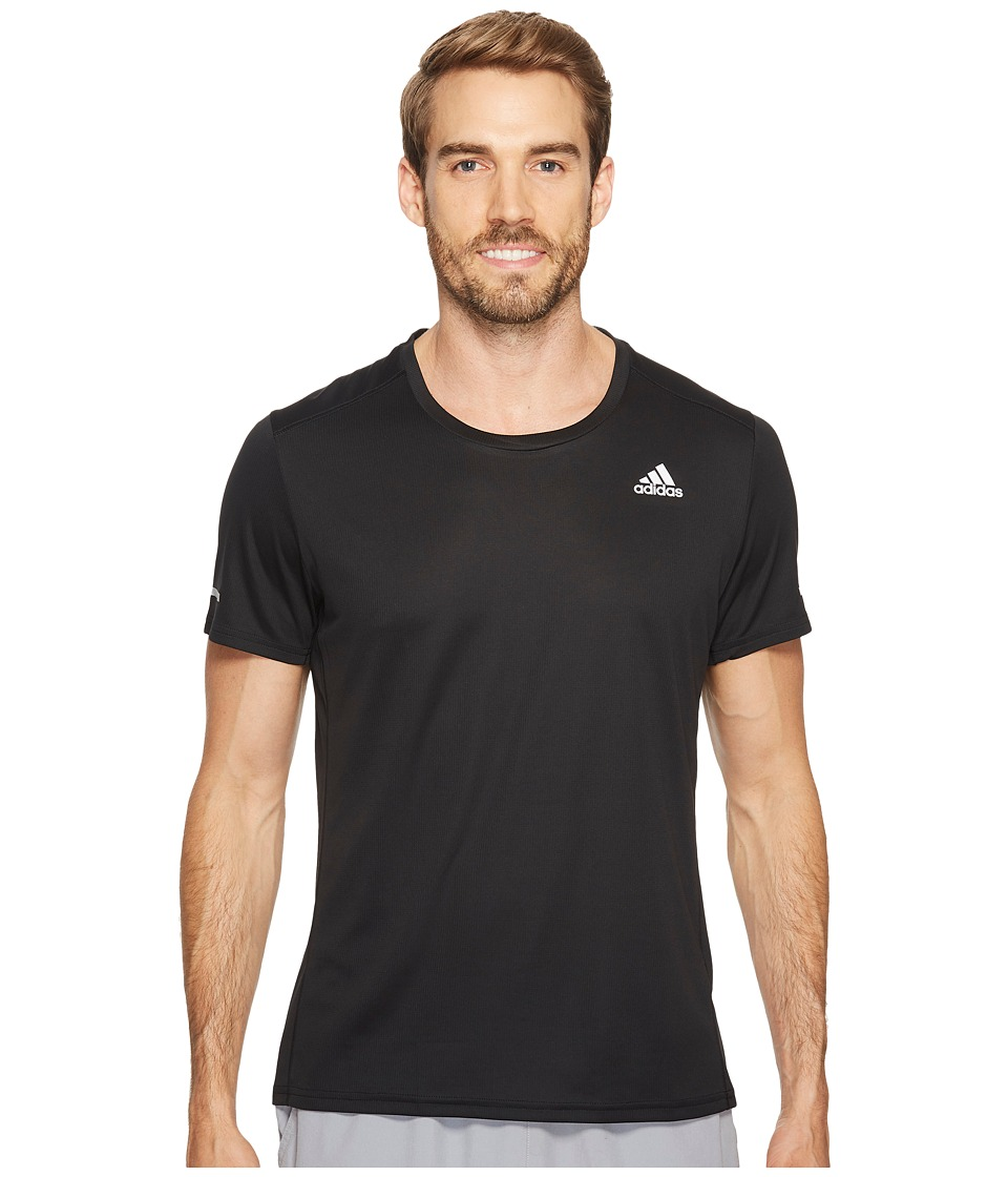 adidas - Run Tee (Black) Men's Workout