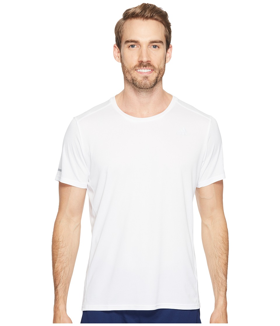 adidas - Run Tee (White) Men's Workout