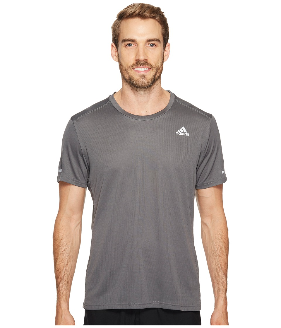 adidas - Run Tee (Grey Five) Men's Workout