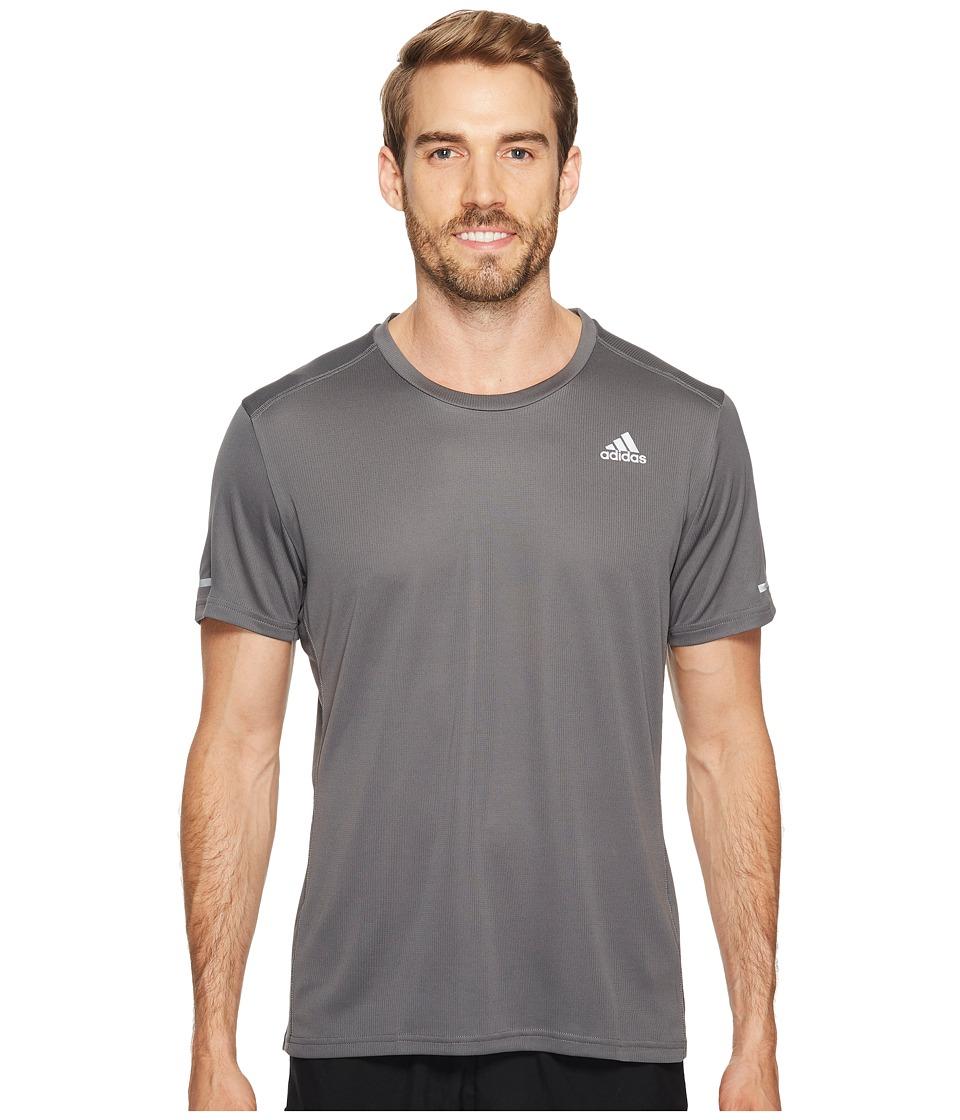 adidas - Run Tee (Grey Five) Men's Workout