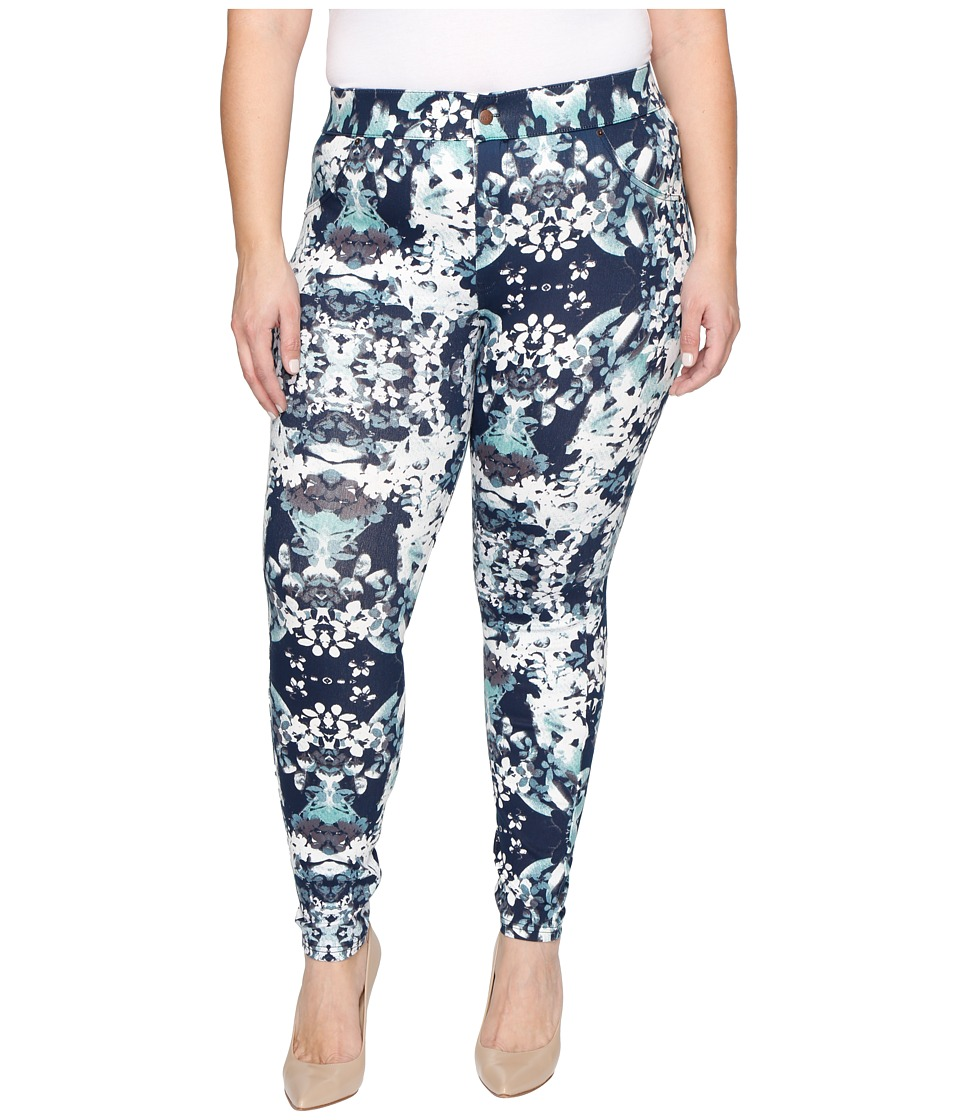 HUE - Plus Size Bouquet Essential Denim Leggings (Peacoat) Women's Jeans