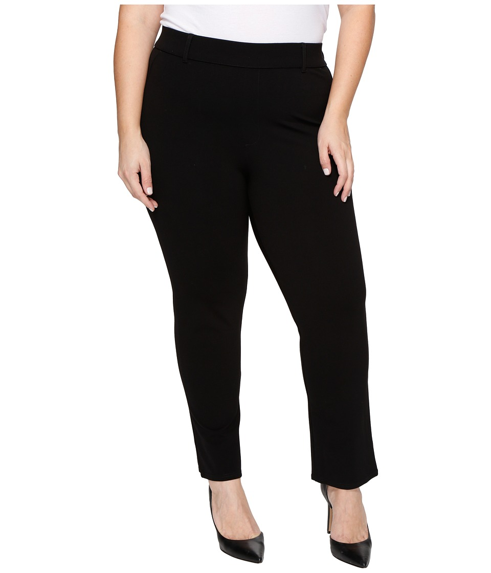 HUE - Plus Size Little Black Cropped Treggings (Black) Women's Casual Pants