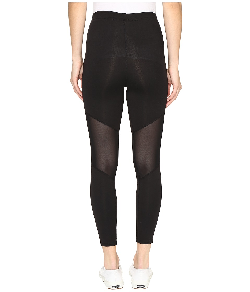 HUE - Mesh Knee Active Shaping Skimmer (Black) Women's Casual Pants