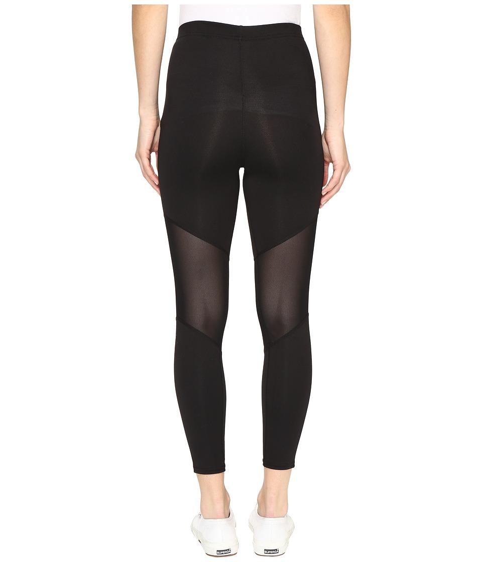 HUE - Mesh Knee Active Shaping Skimmer (Black) Women's Casual Pants