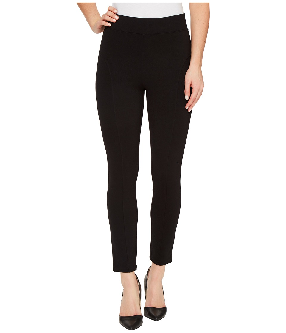 HUE - High Waist Blackout Ponte Skimmer (Black) Women's Casual Pants