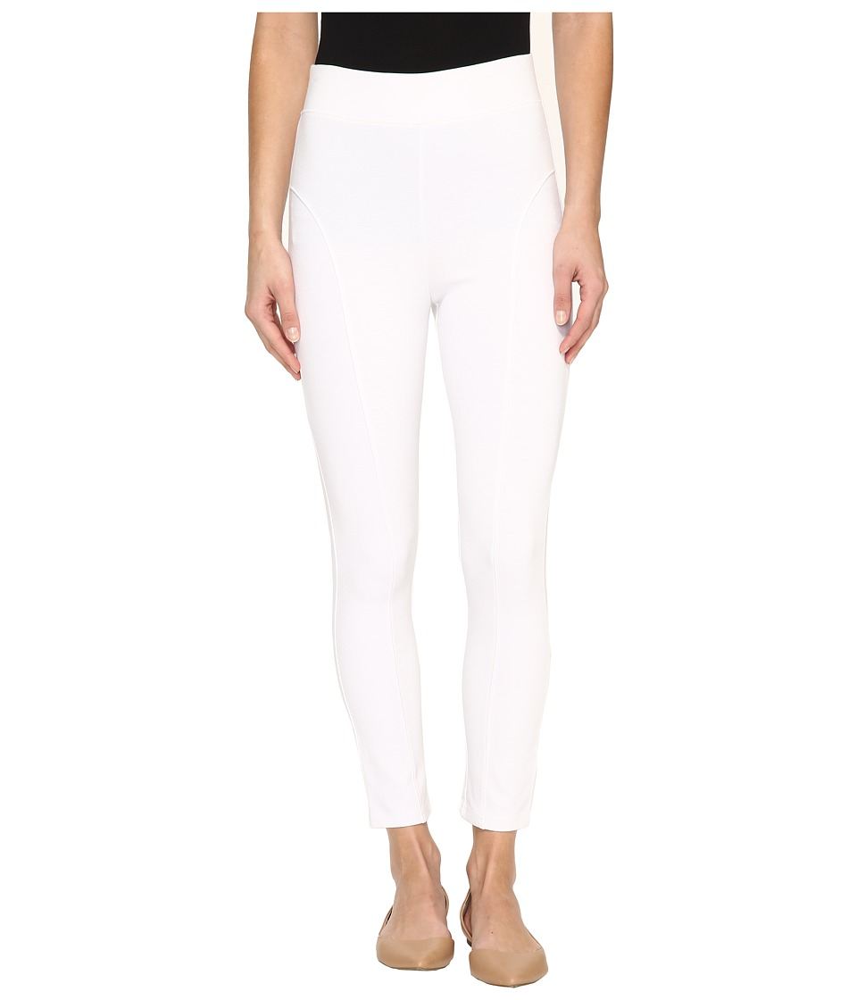 HUE - High Waist Blackout Ponte Skimmer (White) Women's Casual Pants