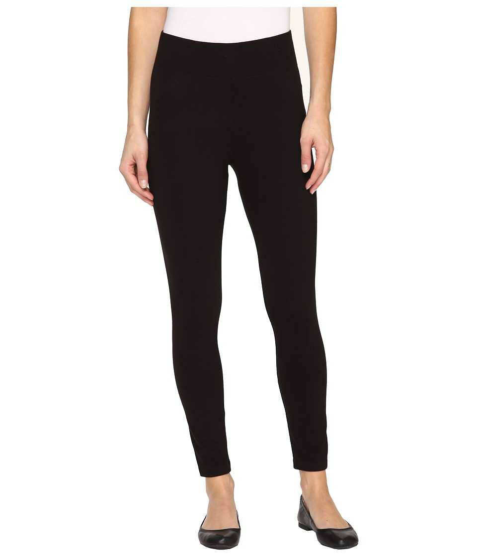 HUE - Temp Control Ultra Skimmer with Wide Waistband (Black) Women's Casual Pants
