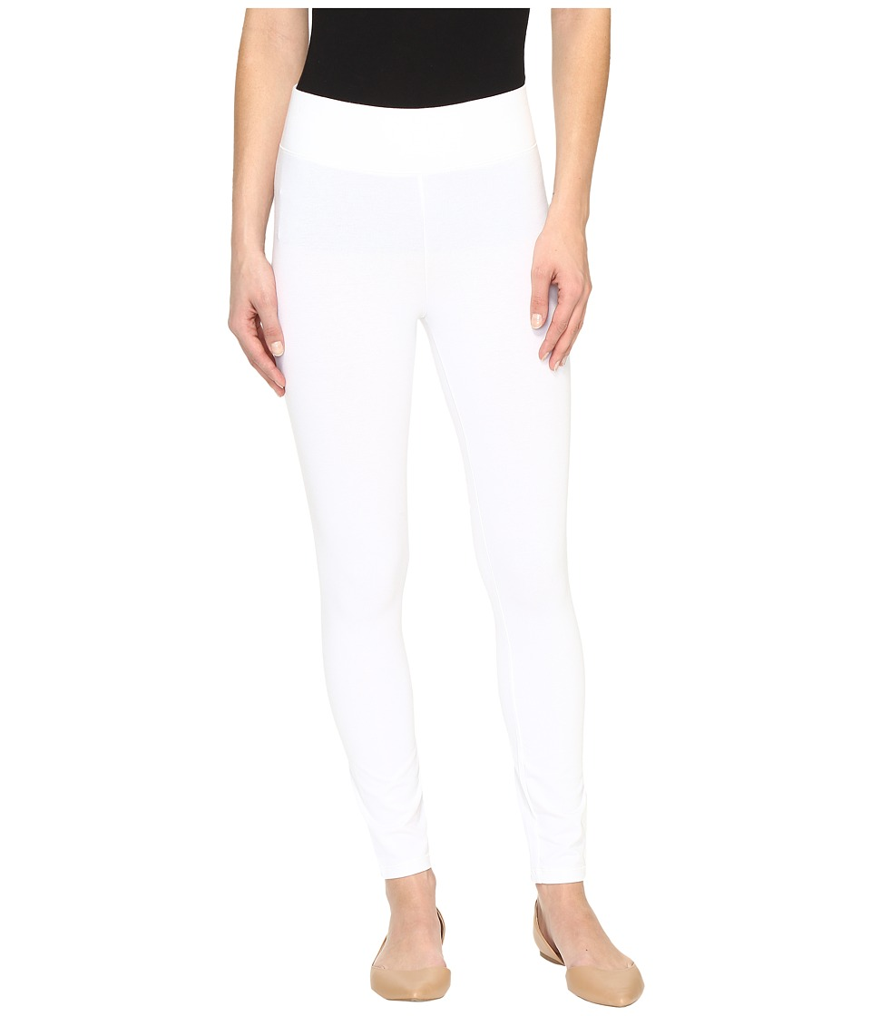 HUE - Temp Control Ultra Skimmer with Wide Waistband (White) Women's Casual Pants