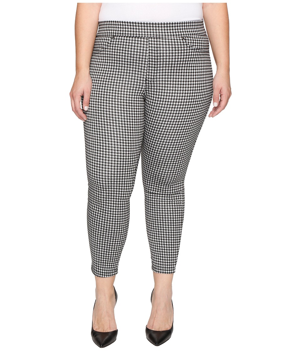 HUE - Plus Size Gingham Denim Skimmer (Black) Women's Jeans