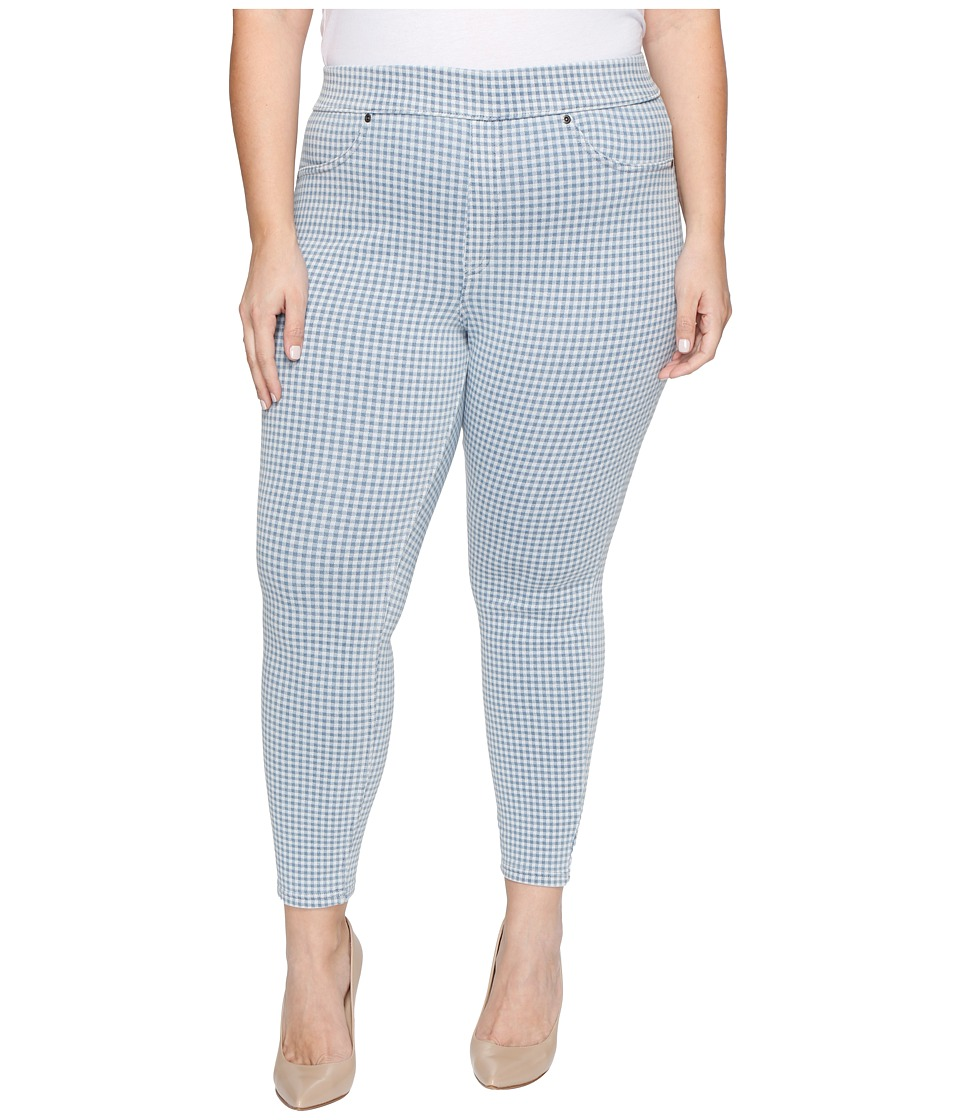 HUE - Plus Size Gingham Denim Skimmer (Chambray) Women's Jeans