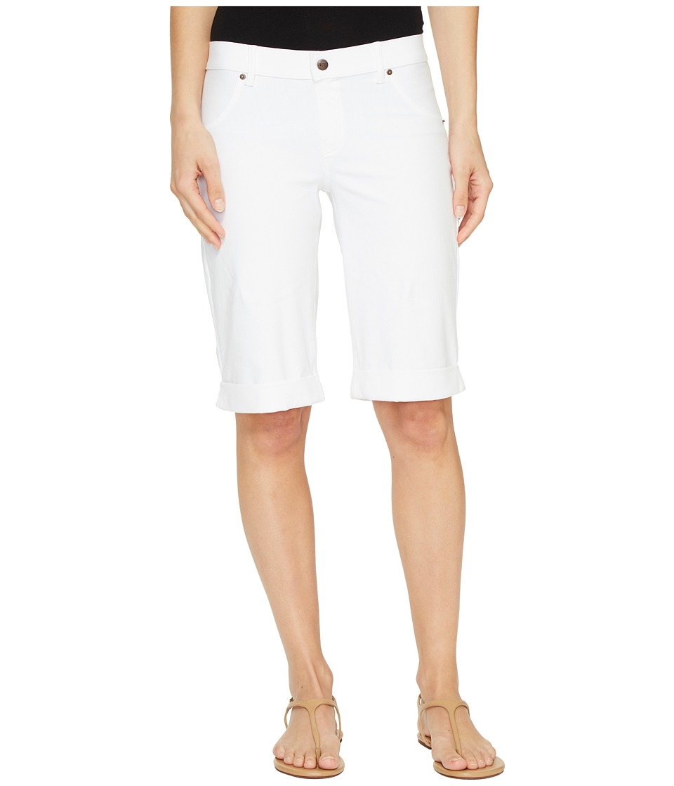HUE - Essential Denim Boyfriend Shorts (White) Women's Shorts