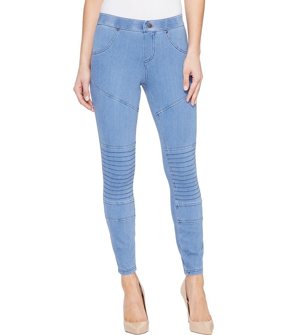 HUE - Moto Denim Skimmer (Vintage Wash) Women's Jeans