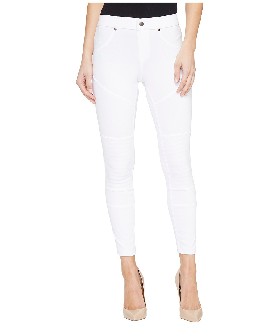 HUE - Moto Denim Skimmer (White) Women's Jeans