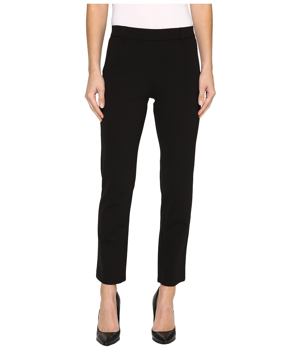 HUE - Little Black Cropped Treggings (Black) Women's Casual Pants