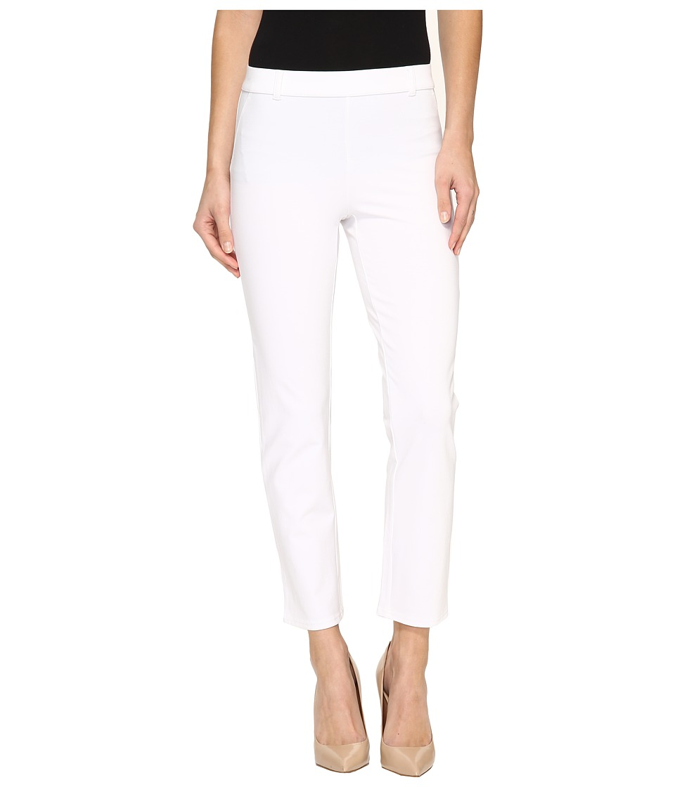 HUE - Little Black Cropped Treggings (White) Women's Casual Pants