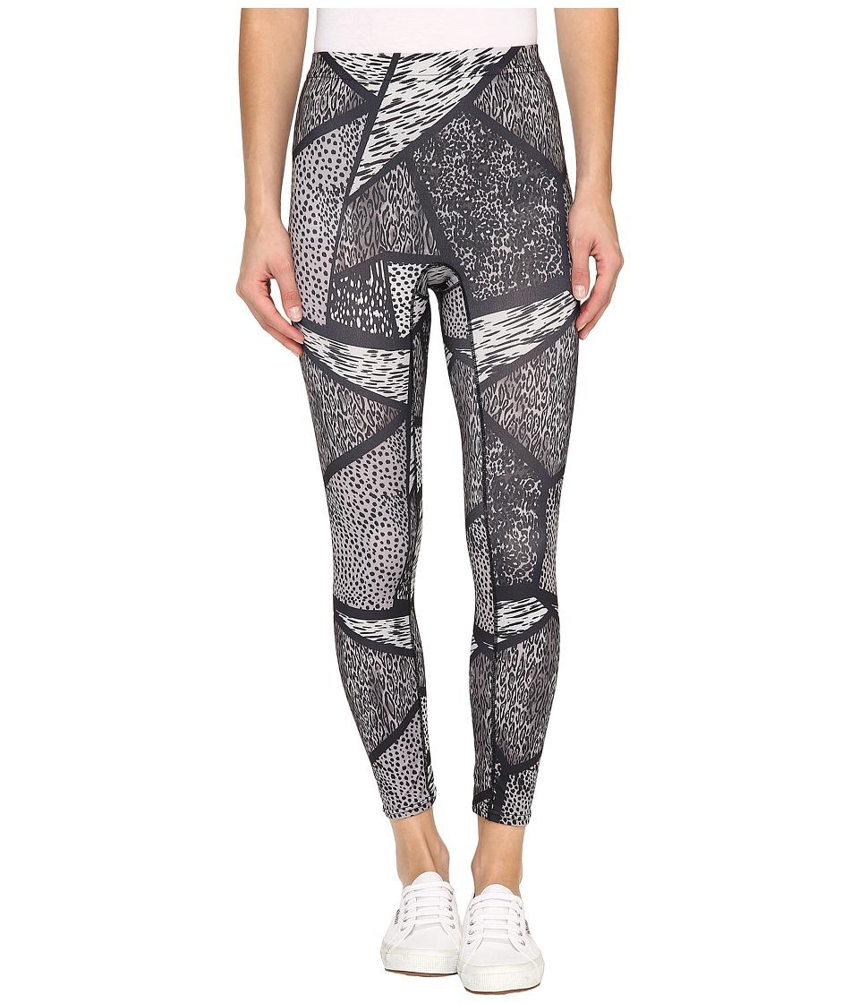 HUE - Geo Animal Active Shaping Skimmer (Black) Women's Casual Pants