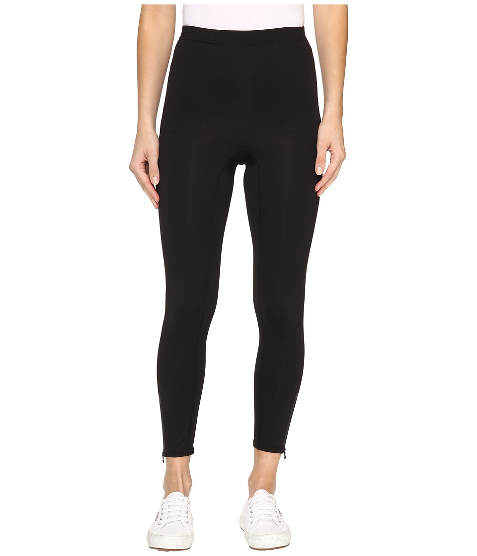 HUE - Side Zip Active Shaping Skimmer (Black) Women's Casual Pants