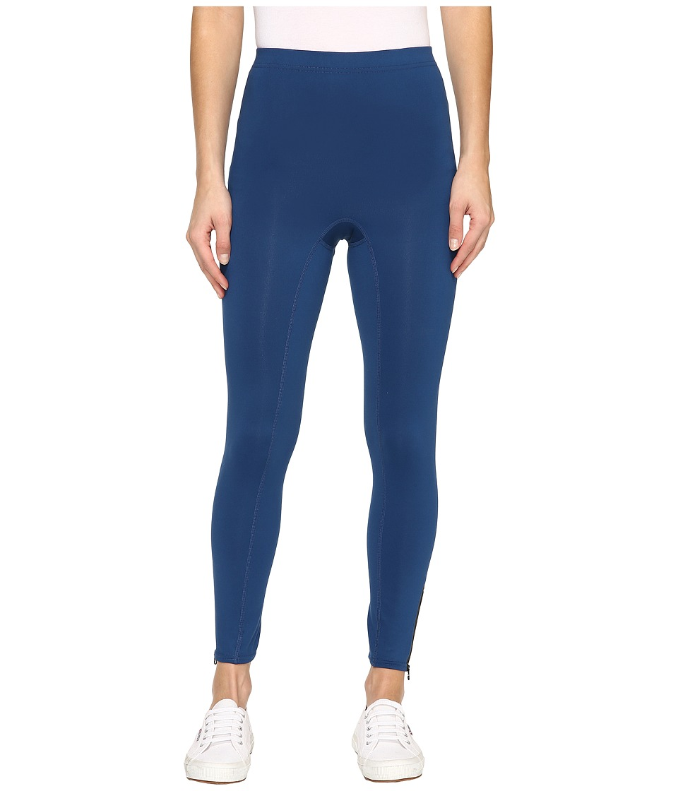 HUE - Side Zip Active Shaping Skimmer (Imperial Blue) Women's Casual Pants